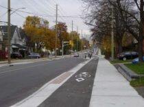 Cycle Track Churchill Ave. Ottawa